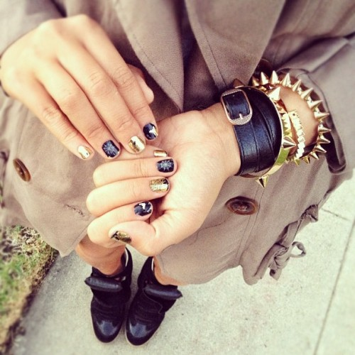 evoleur:  Nails, arm candy, trench coat, Isabel Marant sneaker wedges.. THIS IS PERFECTION