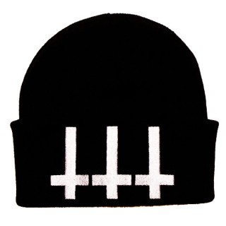 fourleafclothing:  New Killstar Cross beanie hat £14.99 at www.fourleafclothing.co.uk http://fourleafclothing.co.uk/Cross-Beanie~p-66313