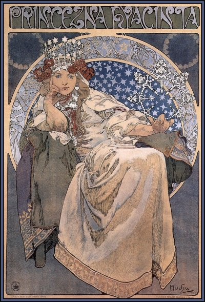 iminmydreams:  Princess Hyacinth, 1911 - Alphonse Mucha Lithograph by one of my favourite artists.