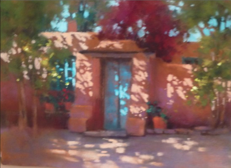 chasingtailfeathers:  Teresa Saia - The Blue Door Pastel