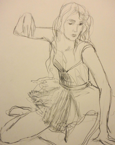 5 mins by Mirandolina61 on Flickr.pencil on A3 cartridge