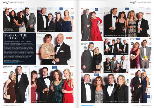 Double Page spread in this month's The Bristol Mag for the Skyfall Premiere!