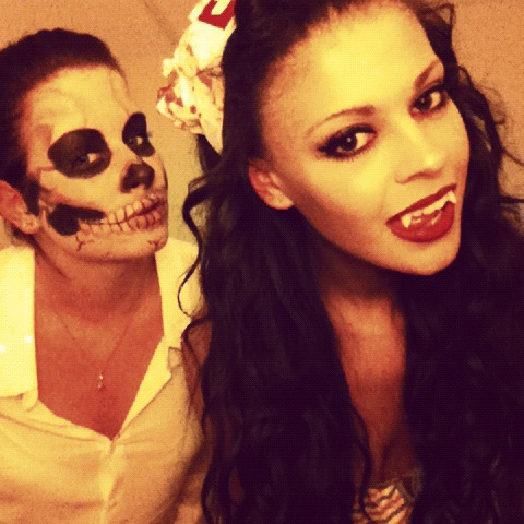 Me and Ashleigh on halloween!