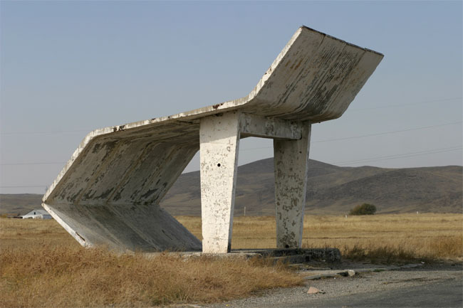 The soviet roadside busstop / christopher herwig.