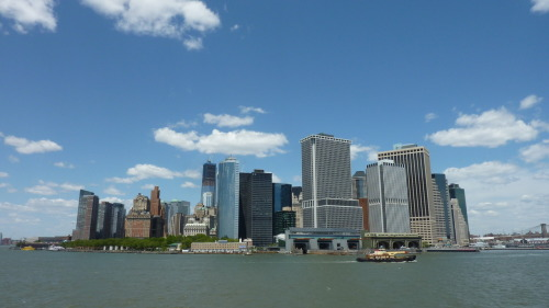 The New York City skyline, from the Staten Island Ferry. - Friday 11th May, 2012.