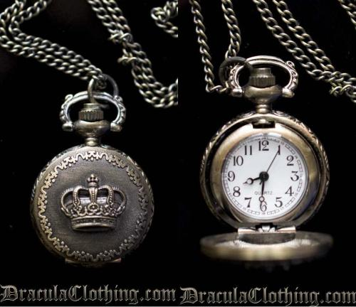draculaclothing:  Giveaway! We are giving away one EGL Necklace Watch to a randomly selected winner! To participate all you need to do is follow us and reblog this post.  The winner will be selected on Thursday, Nov. 8th.