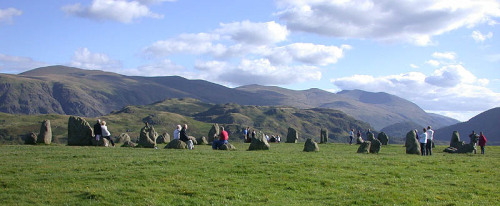 ukinusa:  Castlerigg Stone Circle is one of the most visually impressive prehistoric monuments in Britain, and is the most visited stone circle in Cumbria. Every year thousands of people visit it to look, photograph, draw and wonder why and when and by whom it was built. The stone circle is on the level top of a low hill with views across to Skiddaw, Blencathra and Lonscale Fell. (via Visit Cumbria)