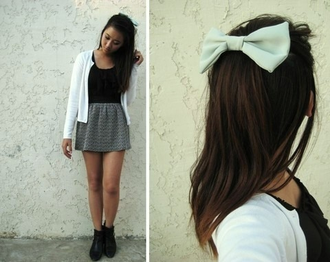 Bow,Cute,Fashion,Girl,Pretty,Skirt,Style,