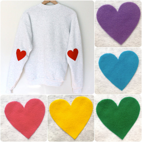 waltzingmatildablog:  Cute idea! I have some old sweatshirts I could do this to.