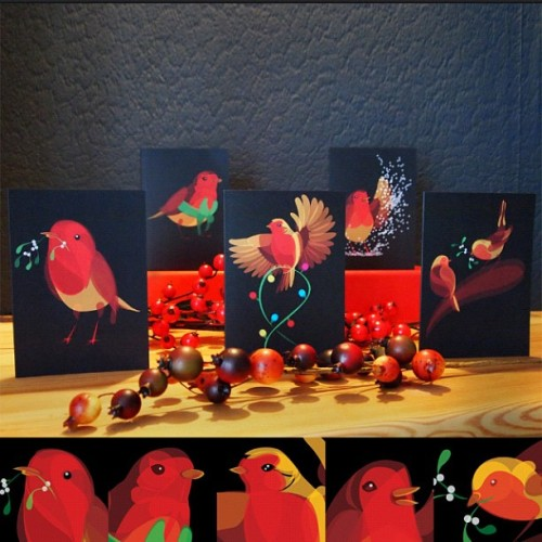 My Fluid Animal Christmas cards are now on sale from FluidAnimals.com!
