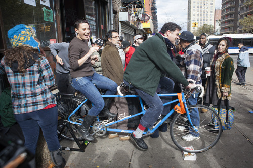 kvatek:  Alphabet City residents generate electricity using a bicycle… hurricane Sandy, NYC  This is in front of the Museum of Reclaimed Urban Space! More about that day here.
