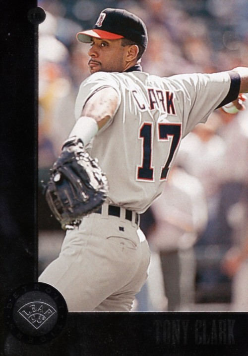 Random Baseball Card #2080: Tony Clark, first baseman, Detroit Tigers, 1996, Leaf.