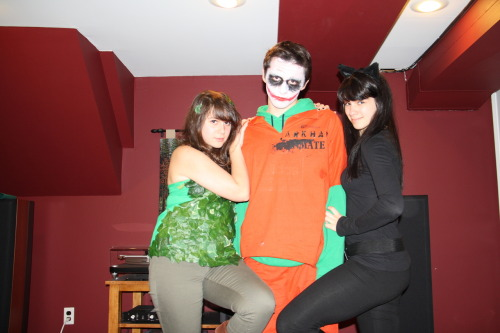 Best Halloween ever. The Joker and his bitches. Y'know.