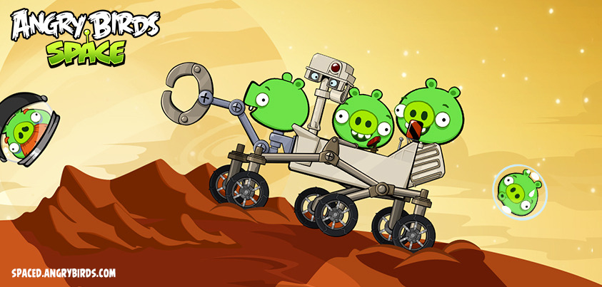 There's a new Angry Birds Space update out, with a rather curious cameo.
