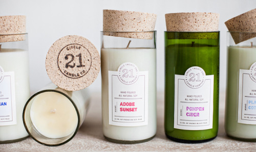 collecte-d:   (via Circle 21 Candles - The Dieline -)