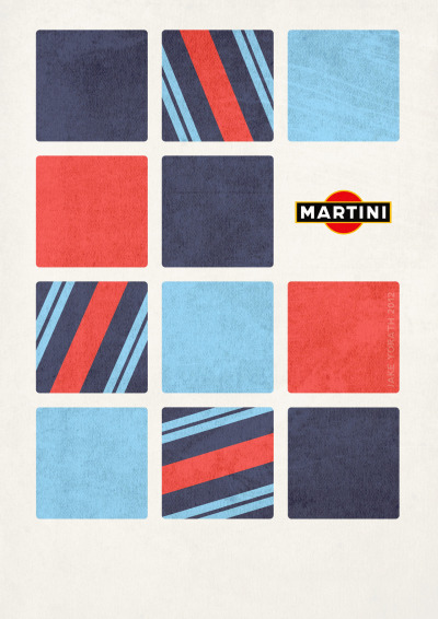 jakeyorath:  Martini Racing fan art.  (C) Jake Yorath 2012