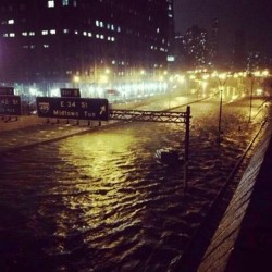 The devastation of hurricane sandy on the lower east side #nyc #sandy
