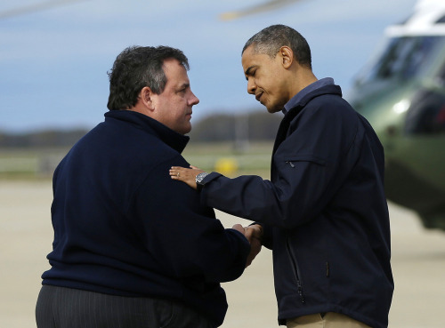 "chris christie & barack obama. it's easy to make a difference for people suffering from the devastation left by sandy: text ""REDCROSS"" to 90999 to donate 10 dollars to the red cross. it's fast, the charge goes straight to your phone bill, and help goes directly to those who need it."