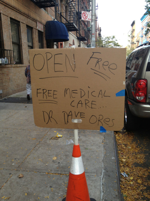 drdaveores:  I'm open today if I can help anyone. Until 6pm. Spread the word. Thanks. 189 east 2nd street btw A and B  Dr Dave Ores  Being a good person. You're doing it right.