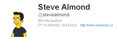 Another step on our quest to find all the Steve Almonds that aren't Steve Almond.