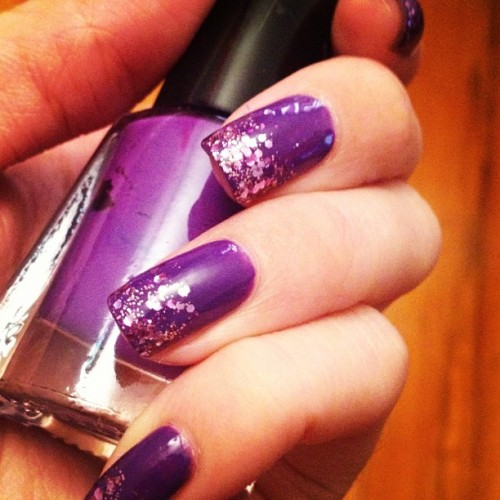 #purplenails #sparkle