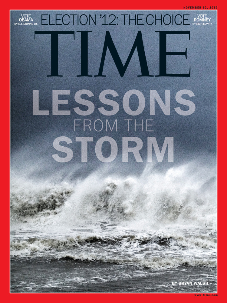 reportagebygettyimages:  The latest cover of Time, 'Lessons from the Storm,' was shot with an iPhone by Ben Lowy.