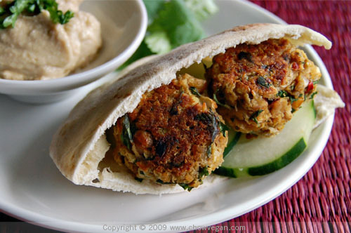 With falafel from a Chow Vegan recipe. Yum!