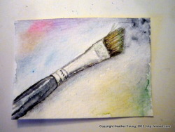 ACEO paintbrush.