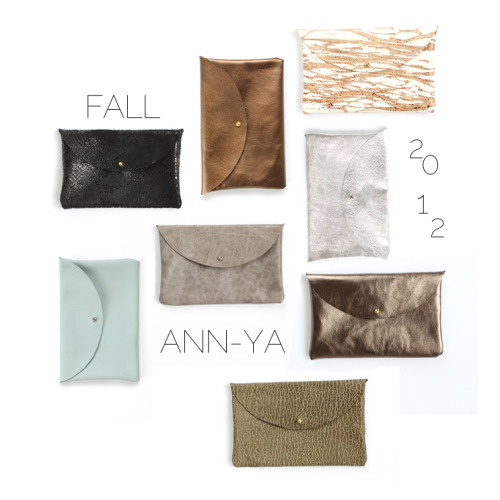 New ANN-YA leather pouches are now in the shop!