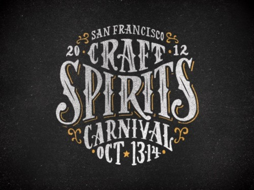 beautifultype:  San Francisco Craft Spirits Carnival event logo by Firewater Partners