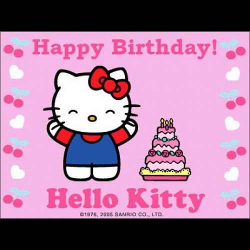 🎶 Happy Birthday #hellokitty! #hk #happybirthday #thinkpink #pink #nofilter