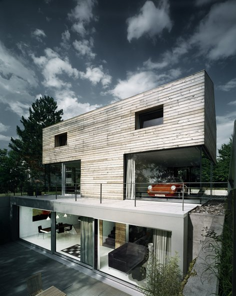 Genius TBONE House uses cantilevers, a Porsche, and HDR photography and makes us drool.