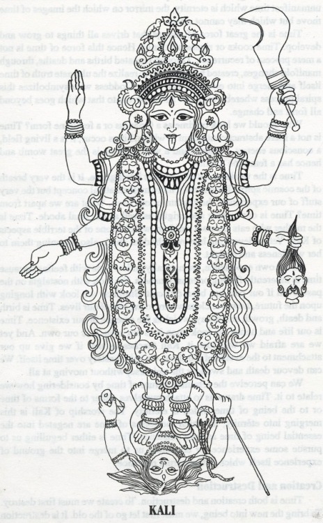 thefeetofkali:  Kali drawing by Margo Gal  Reblog when you see Kali Ma.