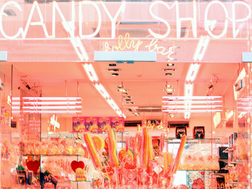 pink neon candy shop by scratch_my_back on Flickr.