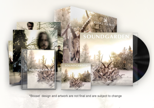 Soundgarden King Animal box set now available for pre-order, along with less pricey CD, digital and vinyl options. Also, the band has announced dates and pre-sale details for shows in New York, Toronto and L.A.