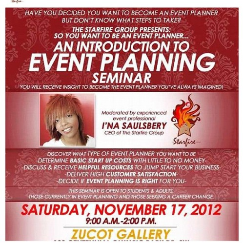 Don't delay.. Register today! Starfire Group's last seminar for 2012. Questions?Tweet/Message me for details #tsgseminar #atlanta #eventplanning #gsu #au #uga #asu #starfiregroup #ua #career