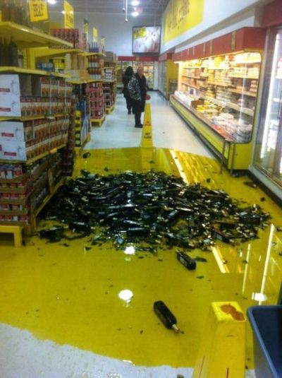 clean up in aisle wine