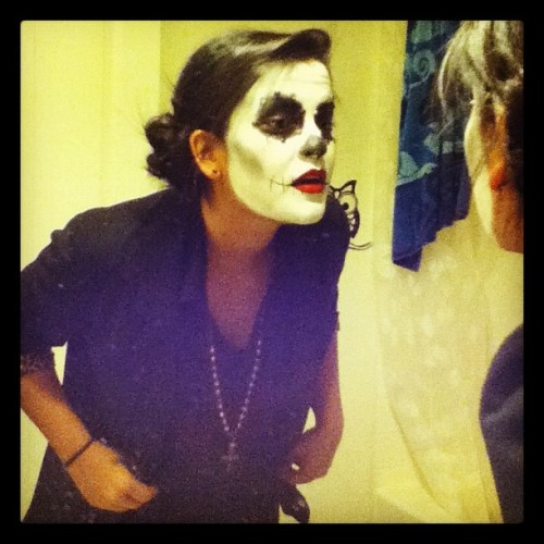 #Me before the #halloween #festivities :] #dayofthedead