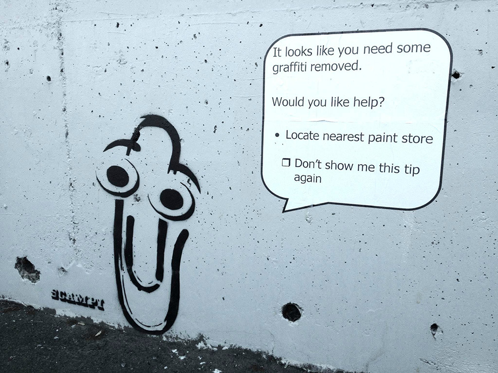 Would you like me to remove this graffiti?