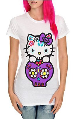 HELLO KITTY DIA DE LOS MUERTOS SUGAR SKULL T-SHIRT 💀