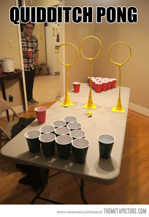 quick-meme:  Beer pong for awesome people
