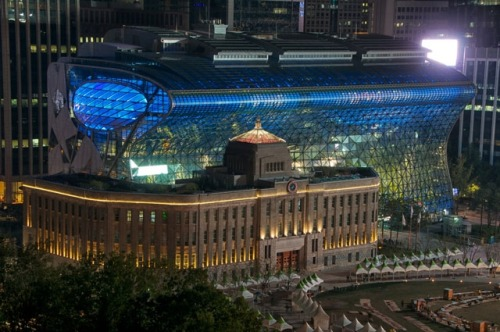 Seoul City Hall, old and new.