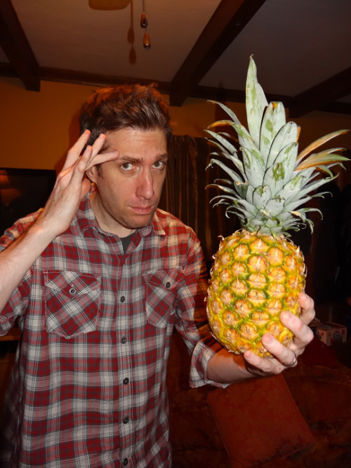 My Halloween costume 2012:Shawn Spencer from Psych Can you spot the pineapple?