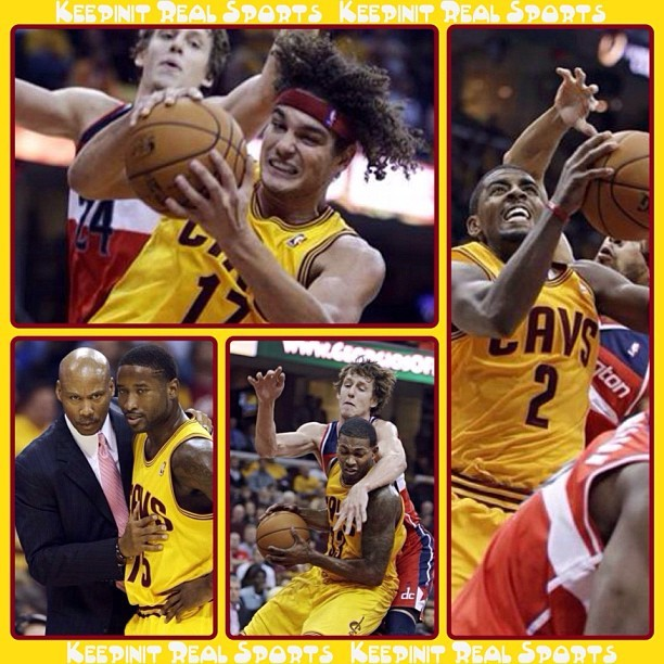 NBA Game Stats: Wizards - vs - Cavaliers  Wizards 84 (0-1, 0-1 away) Cavaliers 94 (1-0, 1-0 home) FINAL  Top Performers Washington: T. Ariza 9 Pts, 3 Reb, 4 Ast, 3 Stl, 2 Blk Cleveland: A. Varejao 9 Pts, 23 Reb, 9 Ast, 2 Blk    #keepinitrealsports #Washington #Wizards #Cleveland #Cavaliers #TrevorAriza #AndersonVarejao #NBA #Basketball #Hoops #B_Ball #Streetball #Sports #MysterKeepinit