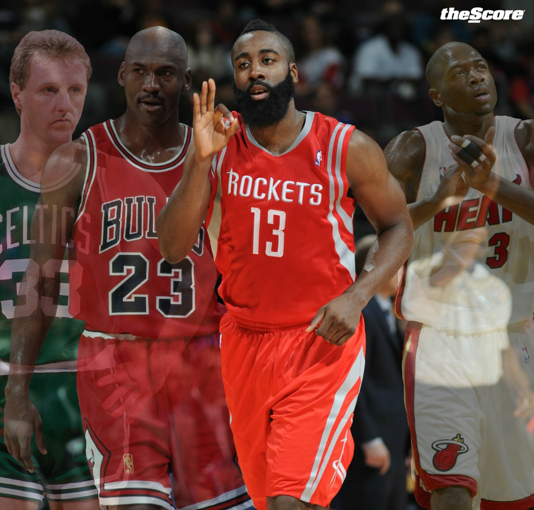 37.12.6: James Harden, Amongst @NBA Legends. (photo)