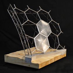 elcontexto:  Structural Model: The Eden Project by Kyle Schumann via polychroniadis Don't forget thats a rammed earth wall holding the hexagonal structure!