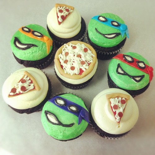 PIZZA CUPCAKES TURTLE POWER! People who live in Austin are so lucky, in general, because it has amazing food and the nicest fucking vegans I've ever met — including the absolutely lovely dynamo Kristen Davenport of Austin's Capital City Bakery. According to reliable and lazy sources, Capital City Bakery has some DAMN TASTY sweet treats; it's almost enough to get me on a plane out there to eat everything.  Oh well, add it to the list of reasons Austin is the greatest and we should all move there immediately as soon as they get a giant air conditioner to cool the city year-round. With global warming, that might be sooner than we think!