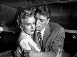 theniftyfifties:  Deborah Kerr and Burt Lancaster in 'From Here to Eternity, 1953.