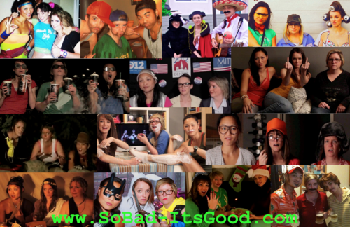 Check out this mashup of pics from all the SoBad-ItsGood.com costumes, characters and sketches we've done.  Go to youtube.com/sobaditsgoodcomedy to watch, have a laugh and please share the vids with your friends! We're excited to have more comedy goodness coming your way soon! - Laura, Venus & Rachel