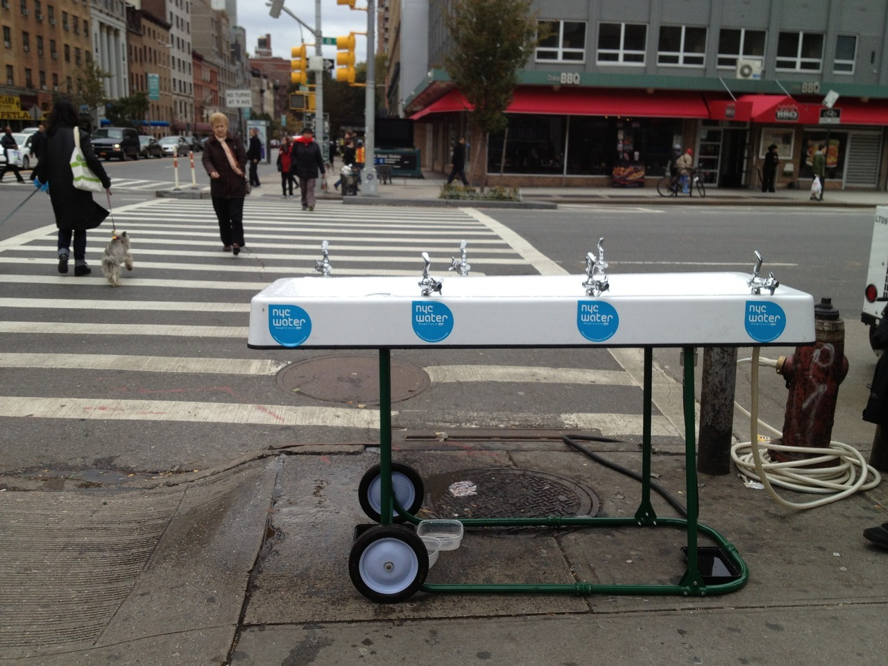 scottbeale:  Mobile water fountains are being placed around NYC by NYC.gov (photo by Lori Dorn)